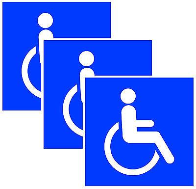 3x Aufkleber Schild Rollstuhl Rollstuhlfahrer Behinderten Hinweis Warnaufkleber