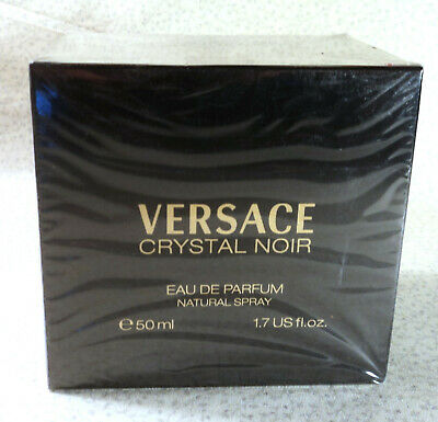 Versace Crystal Noir Eau de Parfum Spray - 1.7 oz. NOS - Sealed Box