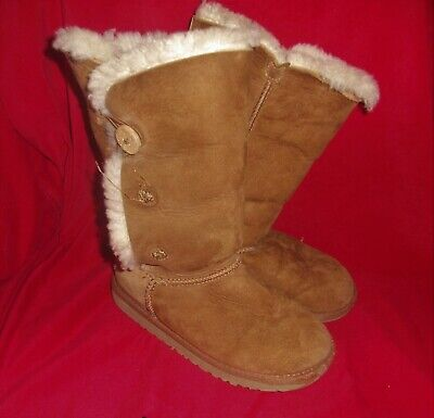 GIRLS UGG BROWN BOOTS SIZE 13