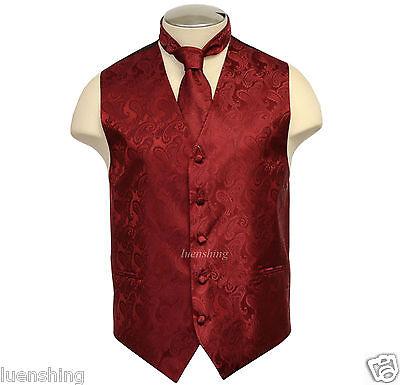 New Brand Q Men's formal Paisley vest tuxedo waistcoat_Neck