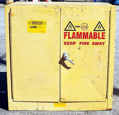 1 Used Lyon 5467 22-gallon Flammable Liquid Storage Cabinet Make Offer
