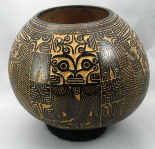 Carved Coconut Bowl (ipu ehi), Fatu Hiva, Marquesas Islands, Charles Seigel