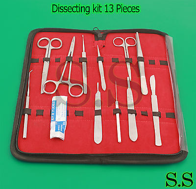 Dissecting Kit Dissection Set Anatomy Kit 13 Pcs For Medical Students Ds-772