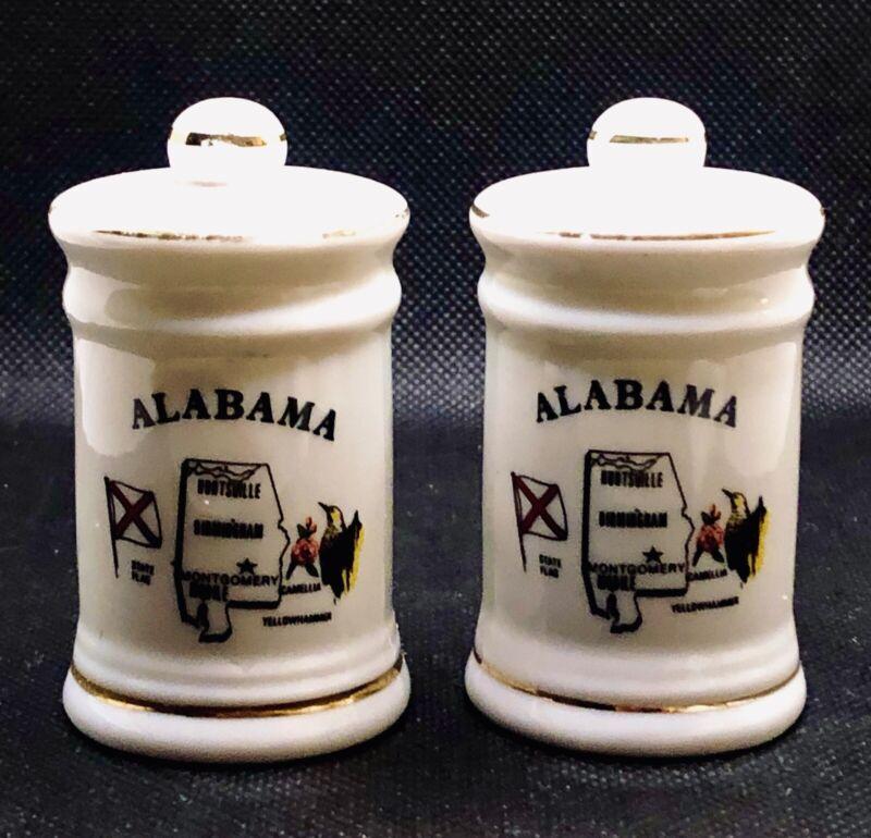 Vintage Alabama Salt & Pepper Shakers