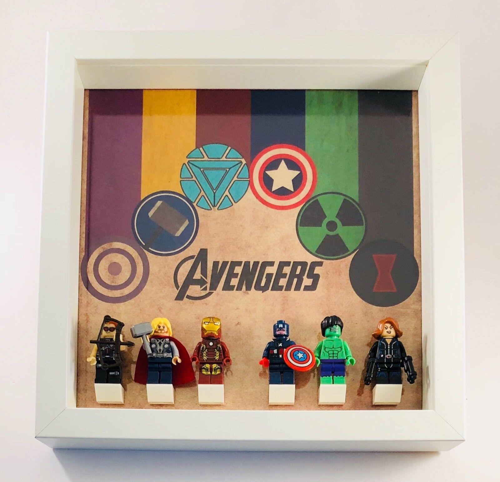 Display Frame for LEGO Marvel The Avengers Minifigures