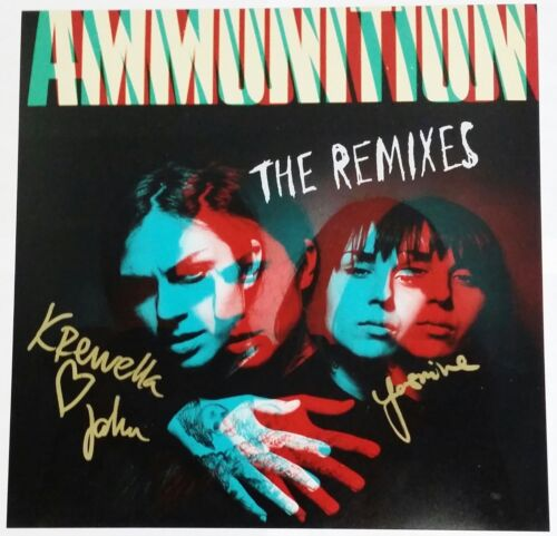 KREWELLA SIGNED AMMUNITION REMIXES 12X12 ALBUM COVER PHOTO W/COA JAHAN YASMINE