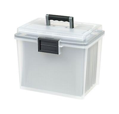 Iris Portable Weathertight File Box Letter 110351