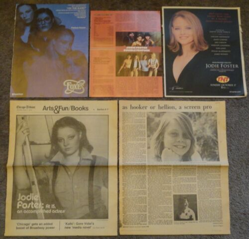 Very Nice Large JODIE FOSTER Clippings Collection