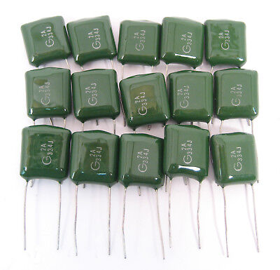 .33uf 100vdc Polyester Film Capacitors 15lot Great Price