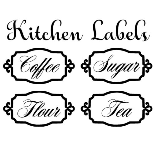 Home Decoration - Kitchen Labels Vinyl Decal Sticker For Canister Jars Storage Organize K2328