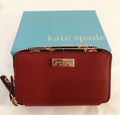 Kate Spade Small Purse Rosie Laurel Way Hazy Rose Roosterred With Box