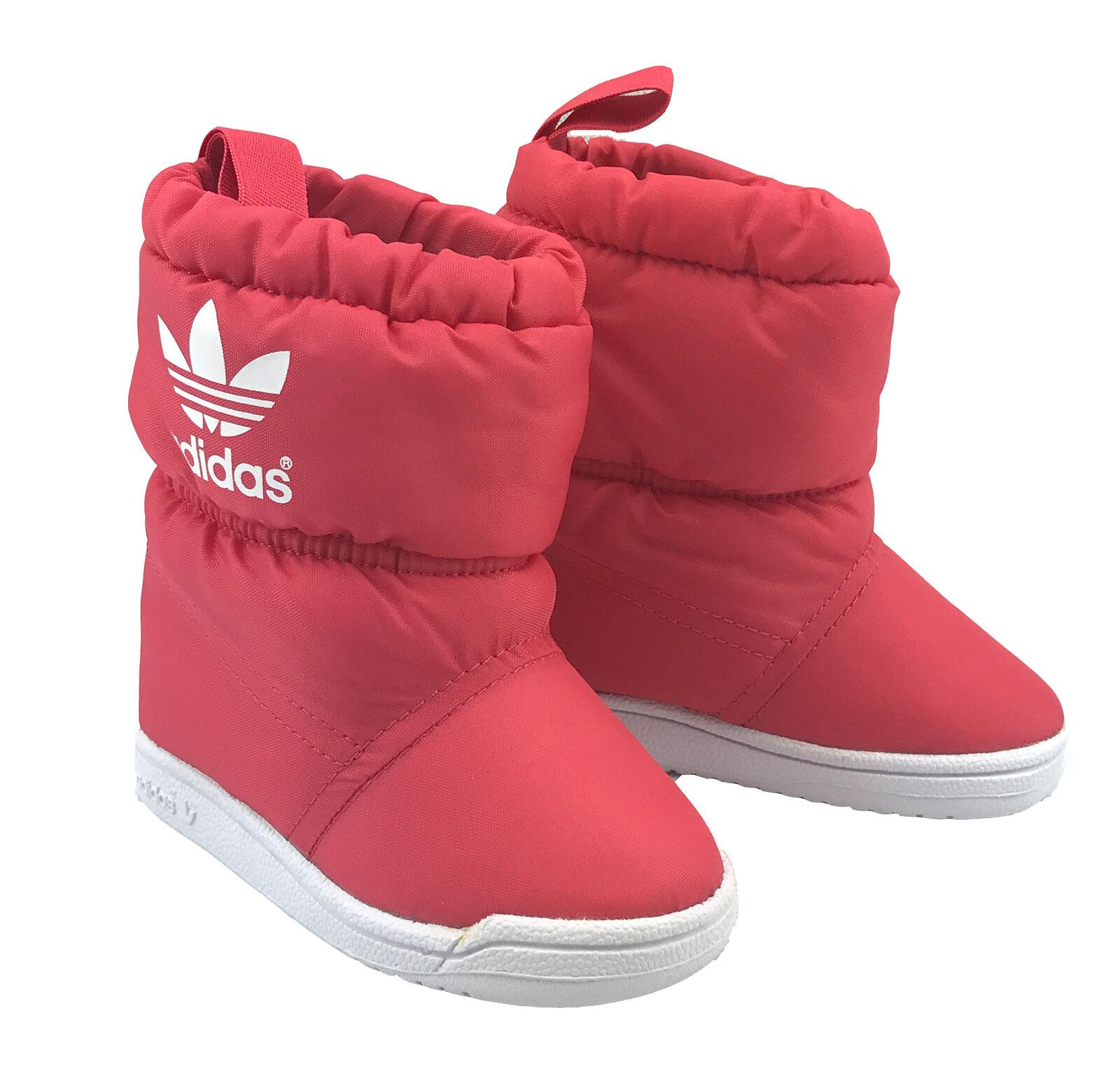 adidas Baby Mädchen Kinder Stiefel Winterstiefel Schneeschuhe Boots Rot Gr.29-33