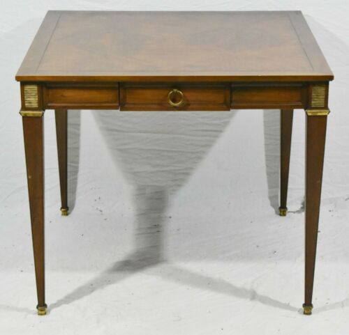 Baker Walnut Hollywood Regency Style Dining Table or Gametable Inlay Top