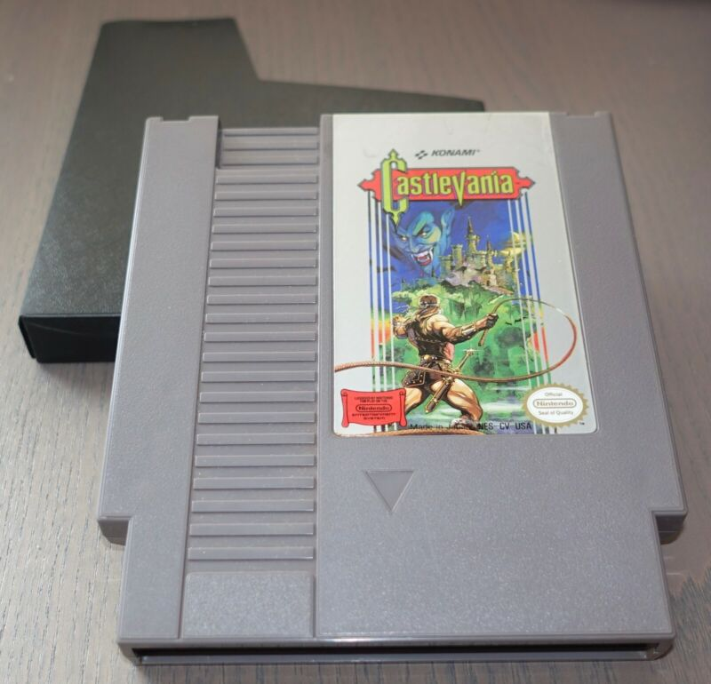 Nintendo NES Konami Castlevania Video Game Entertainment System Cartridge Auth
