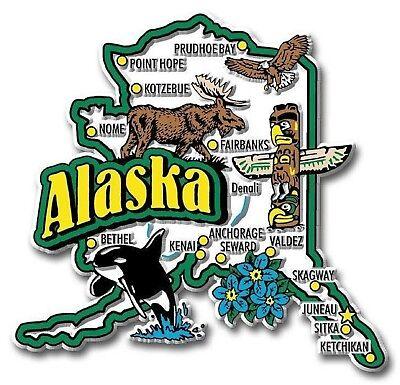 (Alaska Jumbo State Map Fridge Magnet)