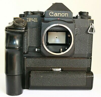 CANON NEW F1 F-1 SLR CAMERA AE MOTOR DRIVE FN BATTERY PACK EYE LEVEL FINDER