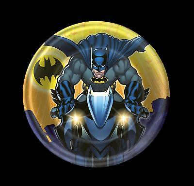 8 BATMAN Dark Knight PLATES Dessert Cake Birthday Party Supplies Hallmark 6 3/4 - Batman Party Plates