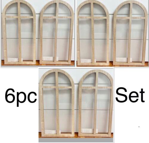 Wooden Window Frame 6PK Panel Decor Sign Natural Target Bullseye BP Horizon