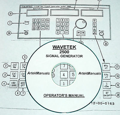 Wavetek 2500 Signal Generator Operators Manual