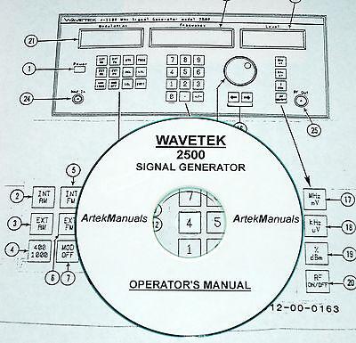 Wavetek 2500 Signal Generator Operators Manual