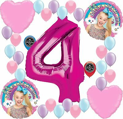 JOJO SIWA Party Supplies Birthday Balloon Decoration Bundle For (4th Birthday)](Decoration For Birthdays)