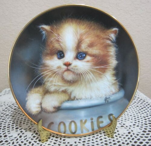 """Cameo Kittens By Qua Lemonds """"Ginger Snap"""" Collector Plate #4783A 1993 Hamilton"""