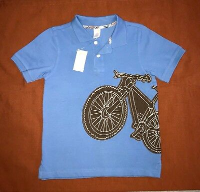 NWT GYMBOREE Boys Sz 8 POLO T-shirt Top Mesh Cotton BLUE