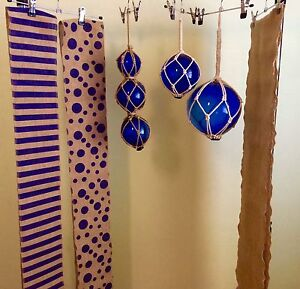 Nautical decor: 13 glass floats, 17 hessin table runners & more Kingsville Maribyrnong Area Preview