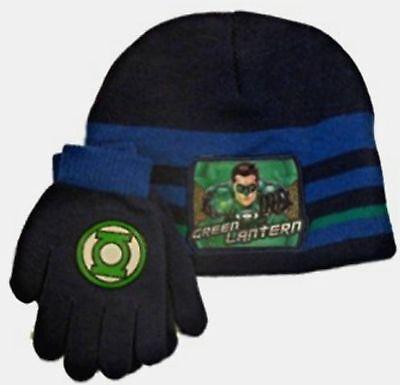 DC Comic Green Lantern Child Beanie Hat & Gloves Cold Weather Combo set New ](Green Lantern Gloves)