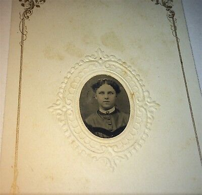 Antique Victorian American Fashion Style Young Lady, C.1860's Tintype Photo! US!