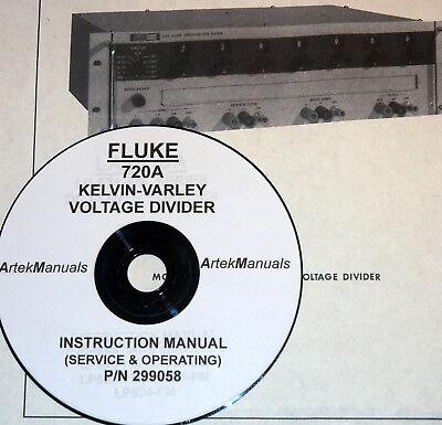 Fluke 720a Kelvin-varley Voltage Divider Ops Service Manual Full Schematics