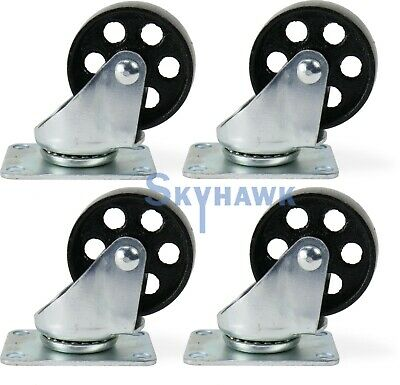 4-pc. 3 350-lb-capacity All-steel Wide Wheel Swivel Top Plate Casters