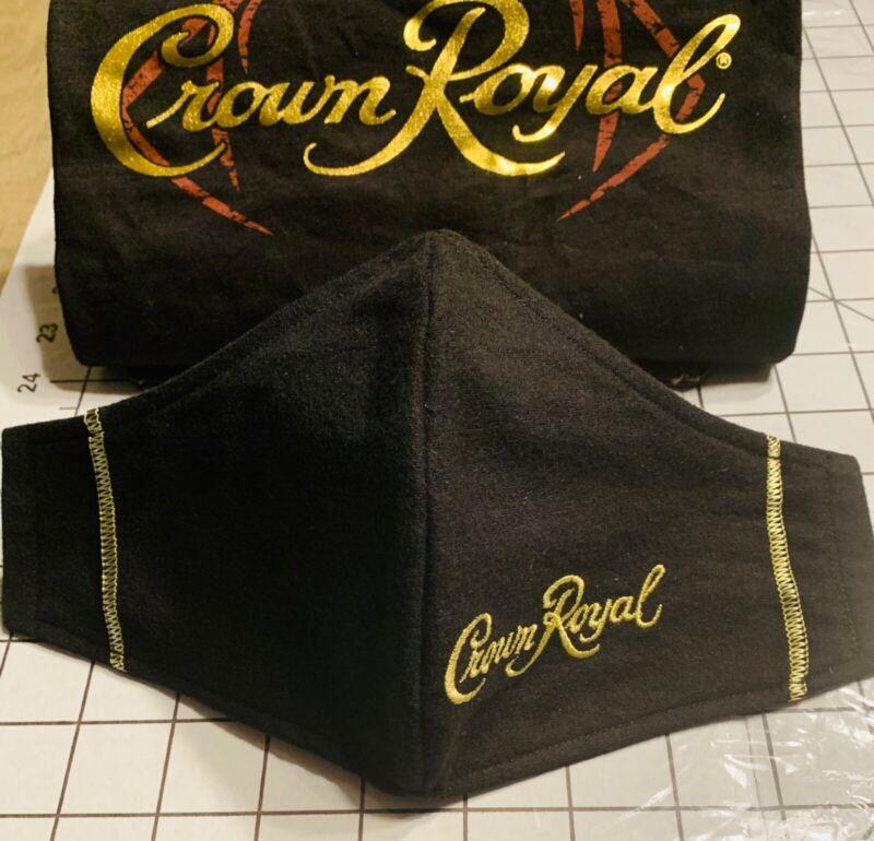 Black Crown Royal Mask 3 layers Handmade