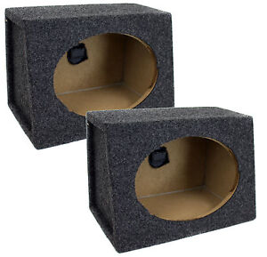 2-NEW-Q-POWER-QTW6X9-Angled-Style-6-x9-Car-Audio-Speaker-Box-Enclosures-PAIR