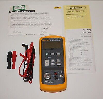Fluke 717 1500g Pressure Calibrator 0 To 1500 Psi Used