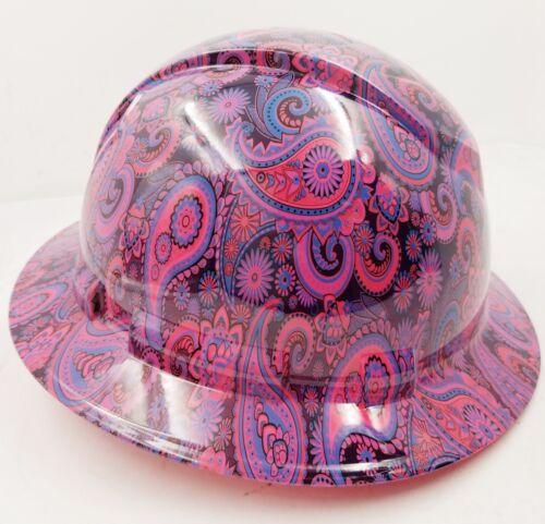 New Full Brim Hard Hat Custom Hydro Dipped HOT PINK Brad Paisleys .Free Shipping 1
