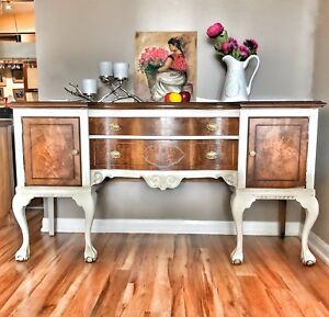 Vintage solid wood buffet