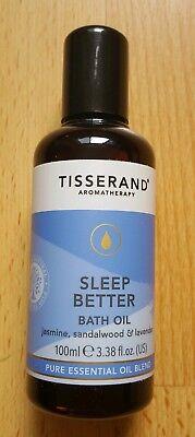 Tisserand SLEEP BETTER Aromatherapy BATH OIL Lavender/Sandalwood/Jasmine 100ml