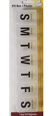 Used, 7 Day Pill Box - Clear, Bold, Large Print, Big Words, Weekly, Daily Medicine for sale  Shipping to India