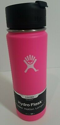 HydroFlask 20 Oz Wide Mouth Hot Pink Flamingo Hard To Find NEW!!  Coffee Lid