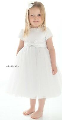 (Sarah Louise 070 10196 BOUFFANT Full and Puffy Tulle Christening Dress)