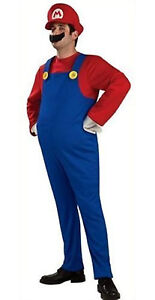 Brand New Super Mario Brothers Costume Fancy Party Halloween Dress Up Plumber
