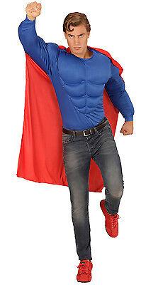 Superheld Muskel Kostüm NEU - Herren Karneval Fasching Verkleidung - Superhelden Verkleiden Kostüm
