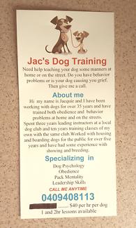 Jac's Dog Training