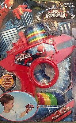 Spider-Man Foam Disc Shooter includes 4 foam discs Toy Party Favor - Foam Disc Shooter