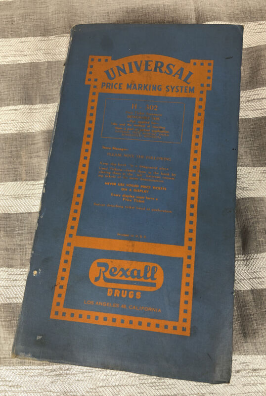 Vintage Rexall Drugs Universal Price Marking System Book Full WoW Look
