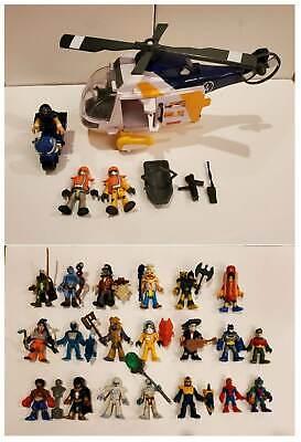 (Mint) Imaginext Ocean Helicopter Rescue Complete Set + ((Bonus 20 Characters))