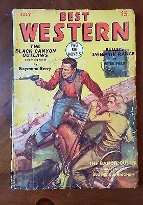 Best Western   Us Western Pulp   July 1936 Volume 1 Issue 6