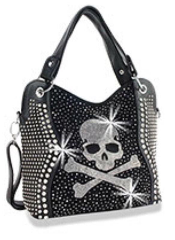 Skull Rhinestone Handbag