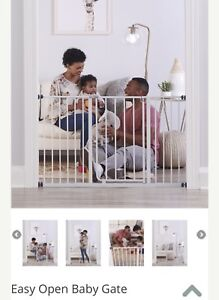 Brand new Extra wide baby gate - white
